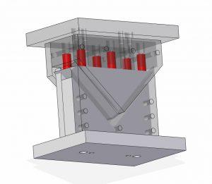 Wykrojniki, tloczniki - obcinanie-naroznika stopy pojemnika